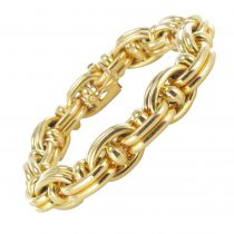 1970s French Caplain Bijoux Yellow gold anchor chain bracelet