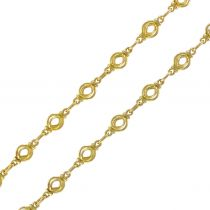 1900s Antique 18 Karat Gold Round Link Chain Necklace