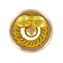 1900's Antique gold round brooch