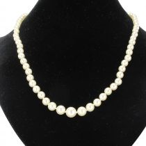 Falling Japanese pearls neclace