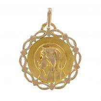 Virgin openwork gold medal