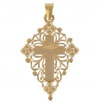 Openwork rose gold cross