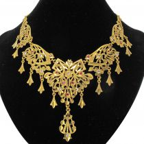 1970s Oriental Yellow Gold Necklace
