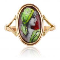 French 1900's Limoges enamel ring