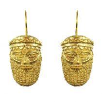 Antique mask earrings