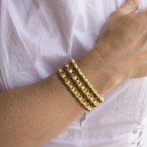 Bracelet ancien en or jaune articulé