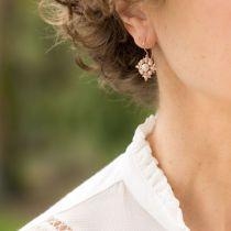 Boucles d'oreilles flocon perles