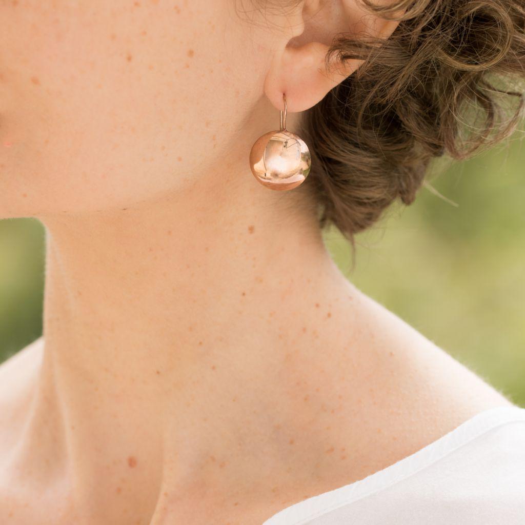 Boucles d'oreilles perles plates