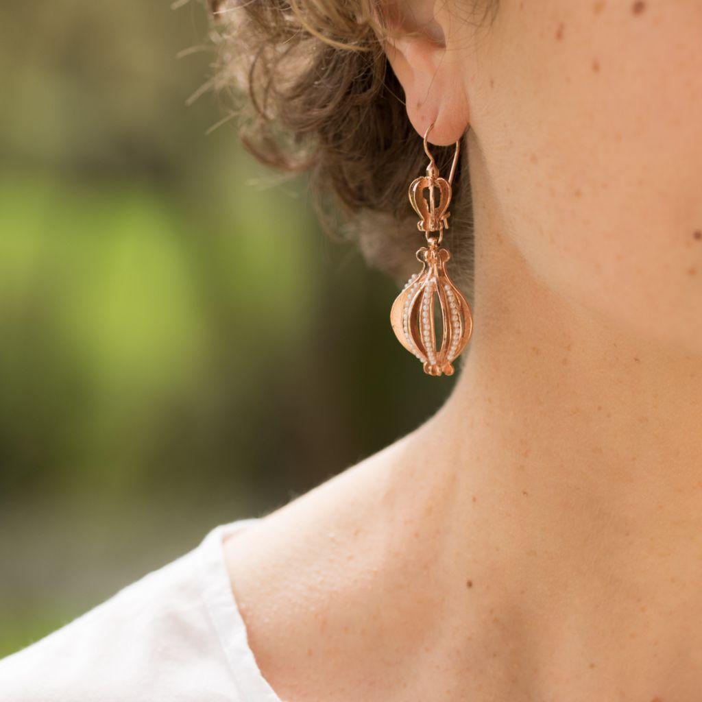 Boucles d'oreilles pendantes ajourées
