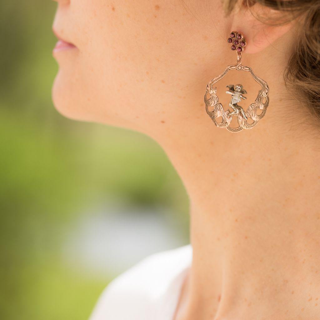 Boucles d 39 oreilles pendantes angelots boucle d 39 oreille vermeil bijouxbaume - Range boucle d oreille ...