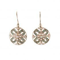 Boucles d'oreilles cristaux et perles