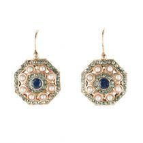 Boucles d'oreilles Perles et cristaux