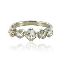 Bague ancienne jarretière diamants