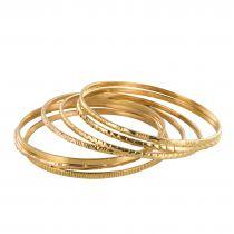 Bracelet semainier or 7 joncs