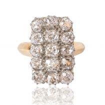 French Louis Philippe Antique Rectangular 5 Carat Diamond Ring
