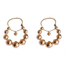 "French 19th Century 18 Karat Rose Gold ""Tarine"" Hoop Earrings"
