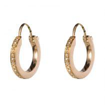 Boucles d'oreilles créoles perles fines