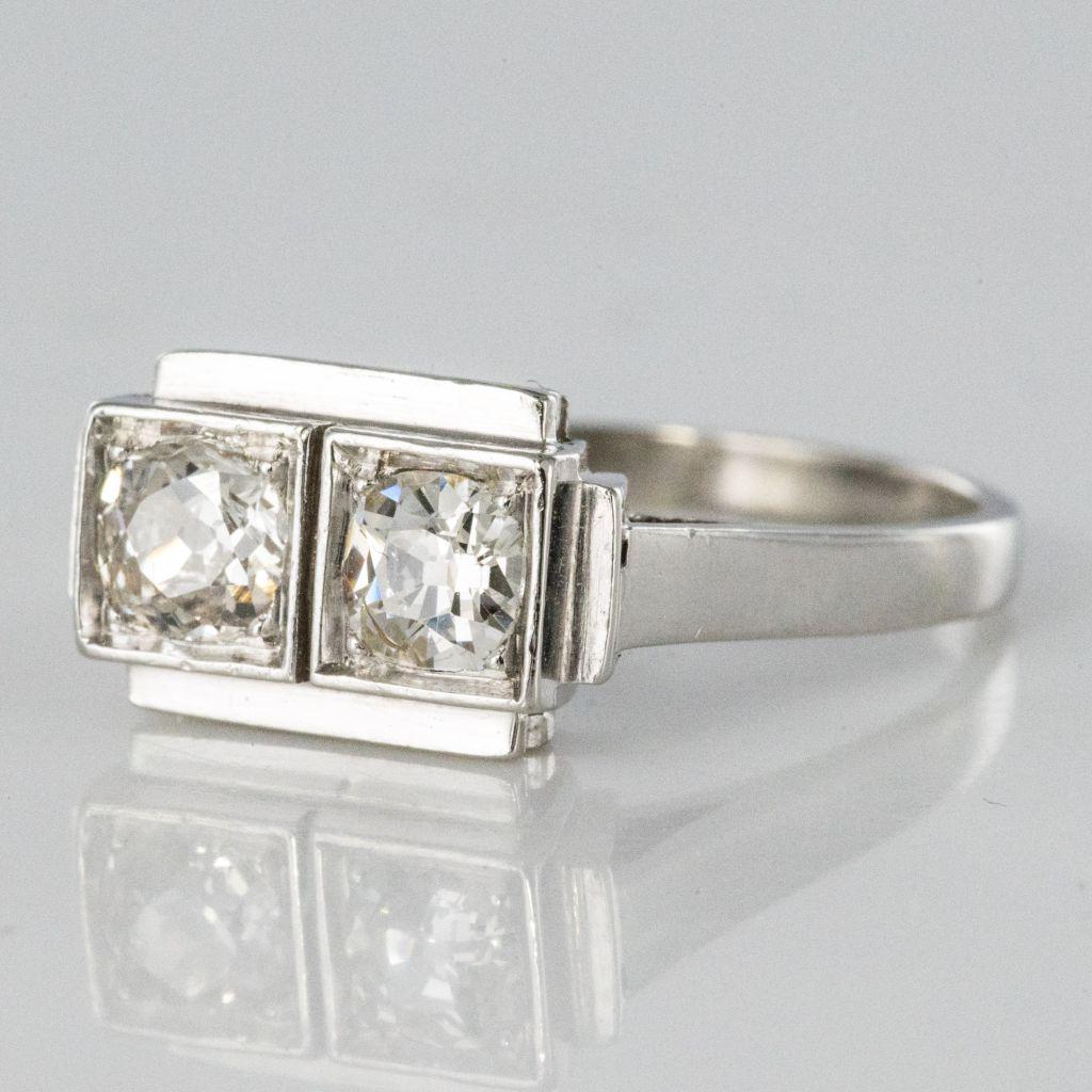 Bague art déco 2 diamants