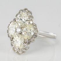 Bague Diamants esprit marquise