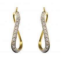 Boucles d'oreilles occasion or diamants