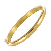 Bracelet jonc en or ovale