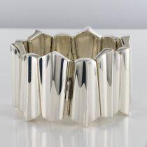 Bracelet argent moderniste