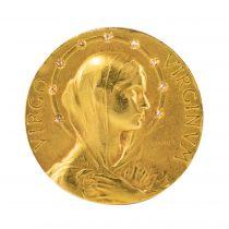 Broche ancienne Vierge auréolée de diamants