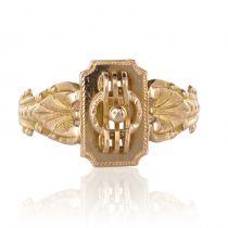 """1900s \""""Semainier\"""" 18 Karat Gold Ring"""