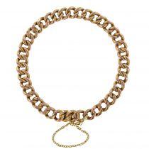 1960\'s Gourmette mesh rose gold bracelet