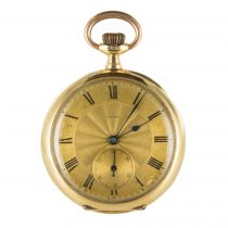 19th Century Engraved 18 Carat Rose Gold Breguet Machenery Pocket Watch