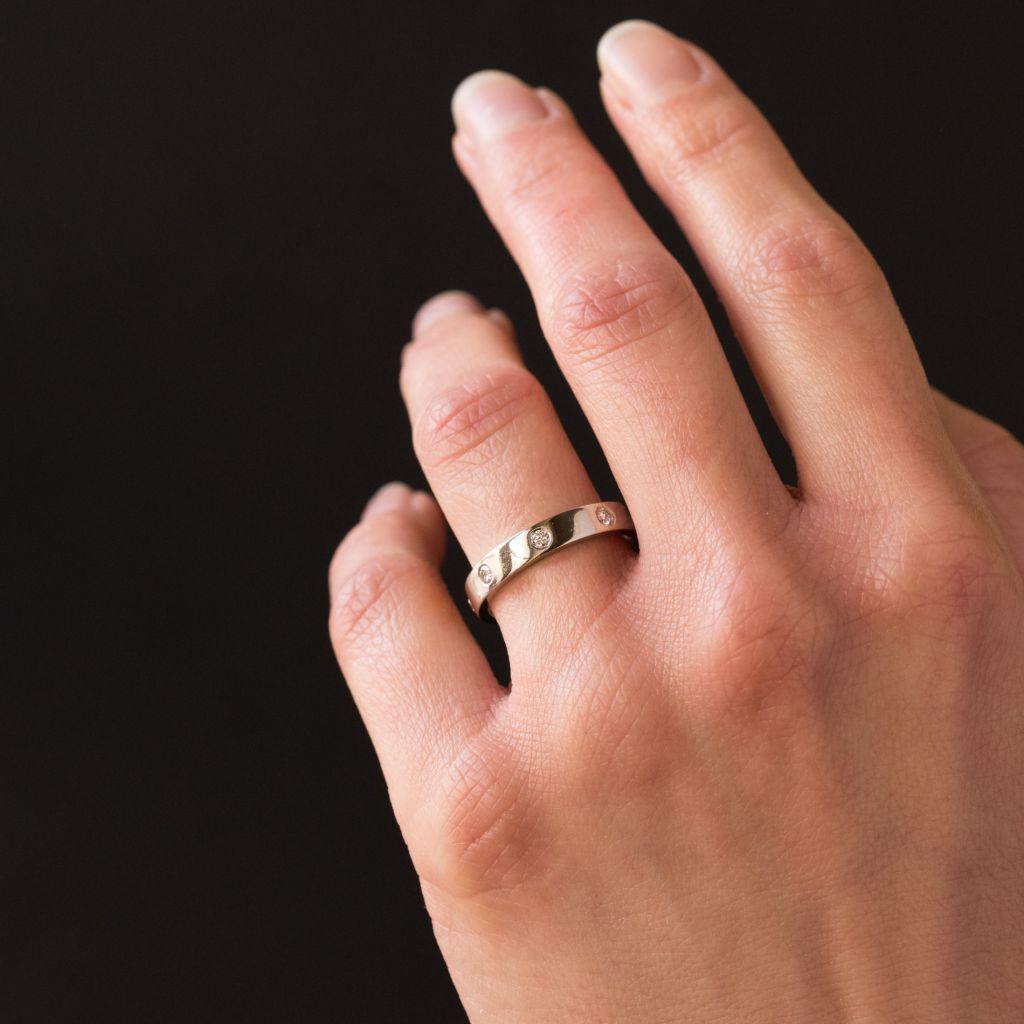 Alliance bandeau diamants