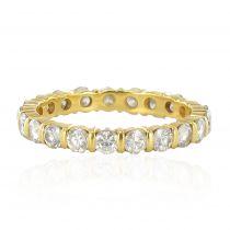 Alliance diamants en or jaune