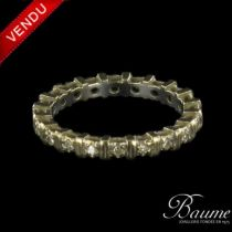 Alliance diamants et barrettes d 'or