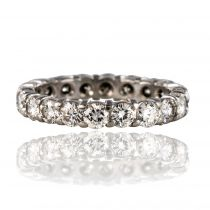 Alliance diamants or blanc