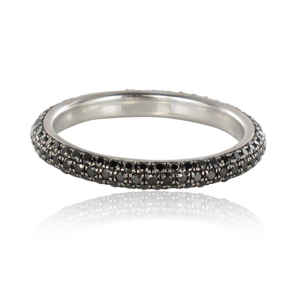 alliance or blanc et diamants noirs alliance occasion diamants bijou occasio. Black Bedroom Furniture Sets. Home Design Ideas