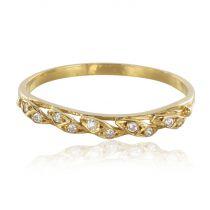 Alliance or jaunes diamants épis