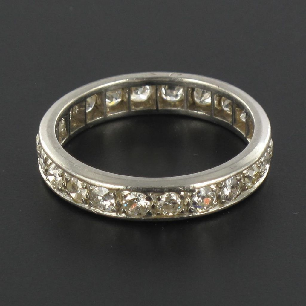 Alliance platine diamants sertis rail