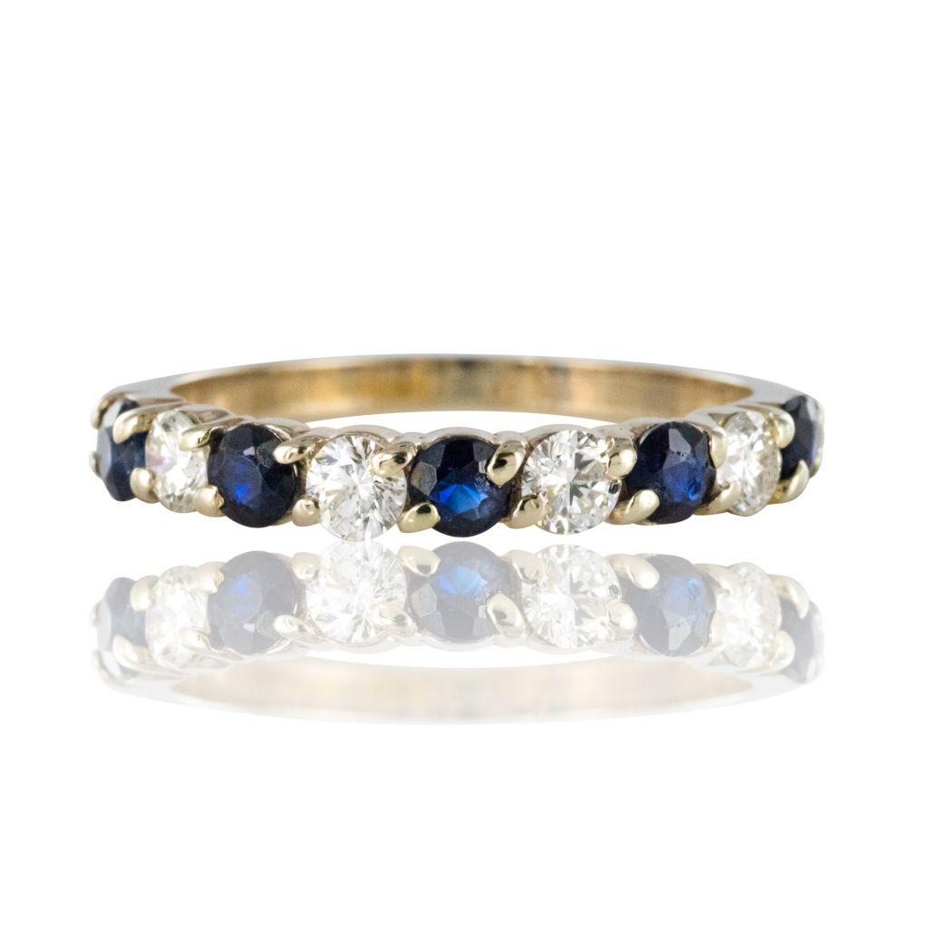 Alliance saphirs diamants