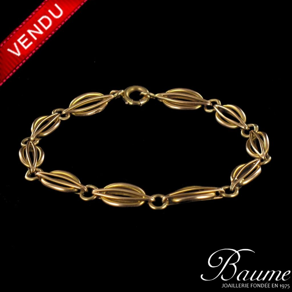 Ancien Bracelet en Or jaune