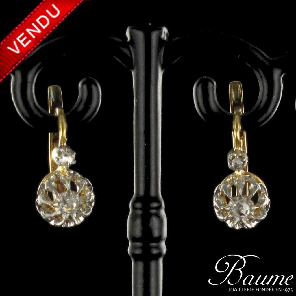 Anciennes Boucles d 'oreilles Diamants