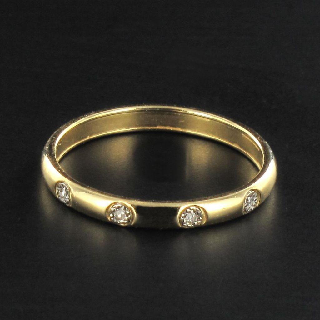 Anneau en or et diamants