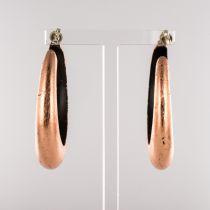 Anneaux d\'oreille ébène et cuivre