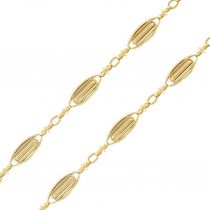 Antique Gold Necklace - Gold 18k chain - Antique Gold jewelry