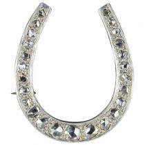 Art deco Diamonds Brooch - Horseshoe diamond brooch - Art deco jewelry