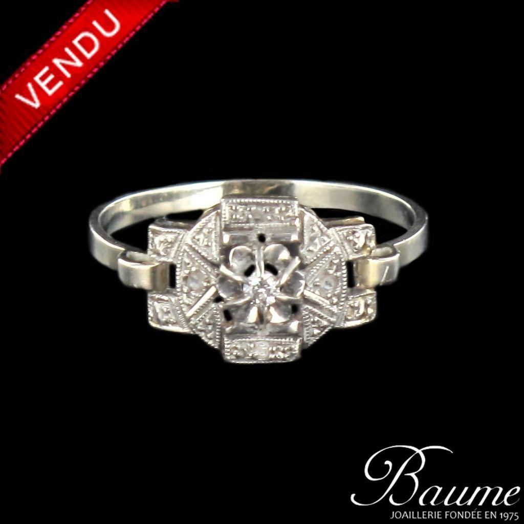 Bague 1930 diamants