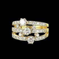 Bague 3 anneaux diamants G 32