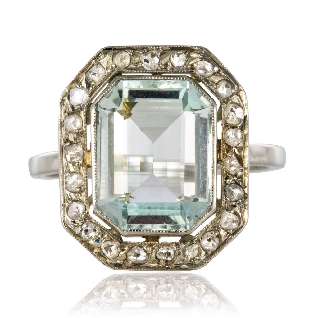 bague diamant art deco 1930