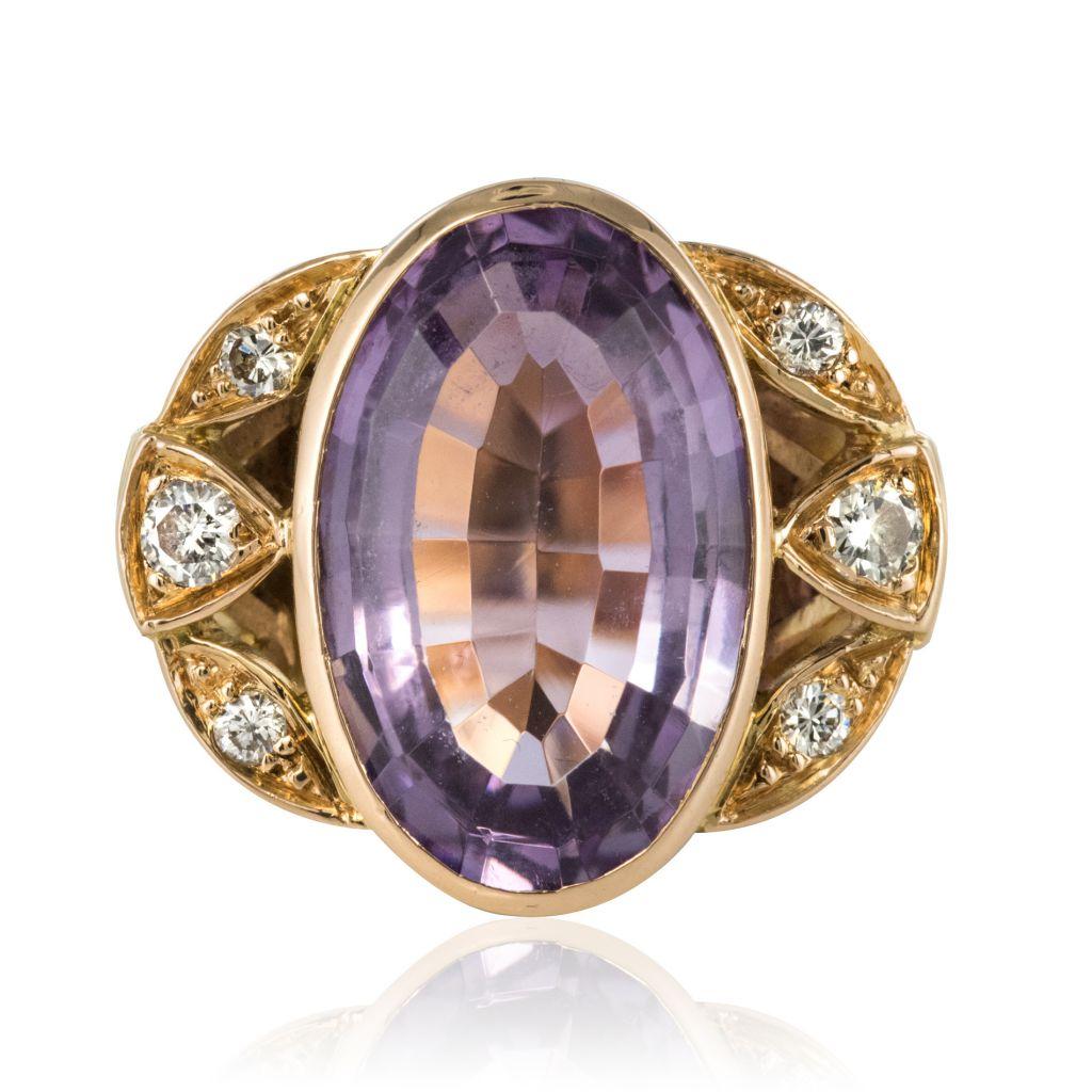 bague diamant et amethyste