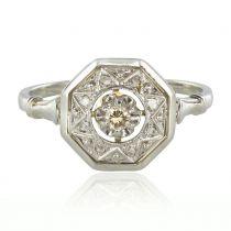Bague ancienne art déco diamant