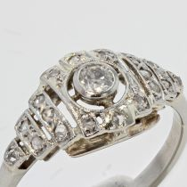Bague ancienne art déco diamants